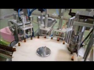 automaattinen e-nestemäinen 10 ml: n pullon täyttö sulkeva korkikone