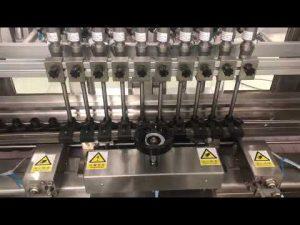 nestemäinen alkoholipitoinen kerma lineaarinen täyttökone, hunajapurkki pieni pulloöljyäyttö